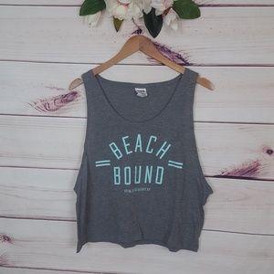 Pink Victoria's Secret | Beach Bound Grey Tank Top